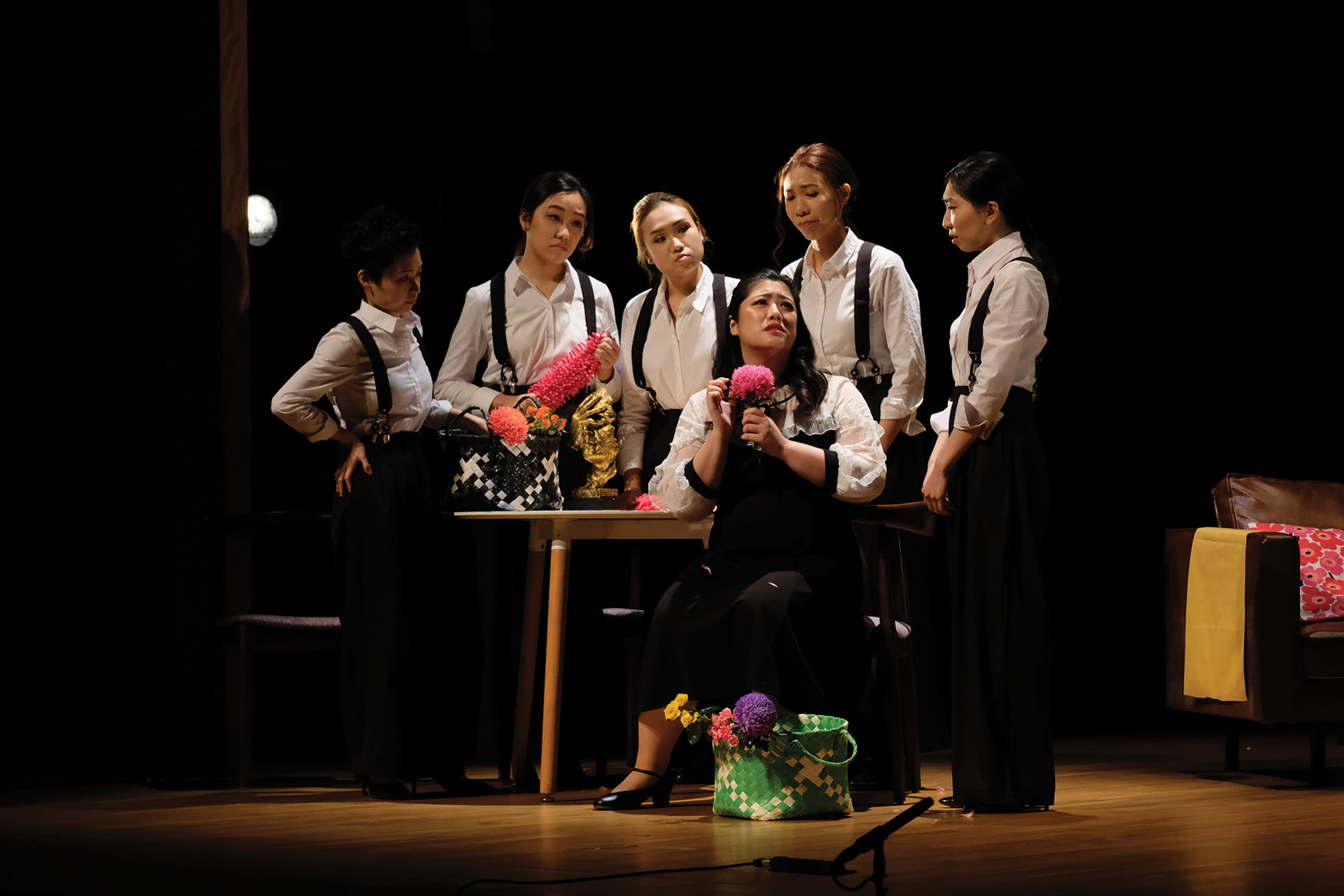 """Bel Canto Singers: """"My Beloved"""" – by Giacomo Puccini: Liù telling the girls how she misses Luigi. Photo credit: © David Quah"""