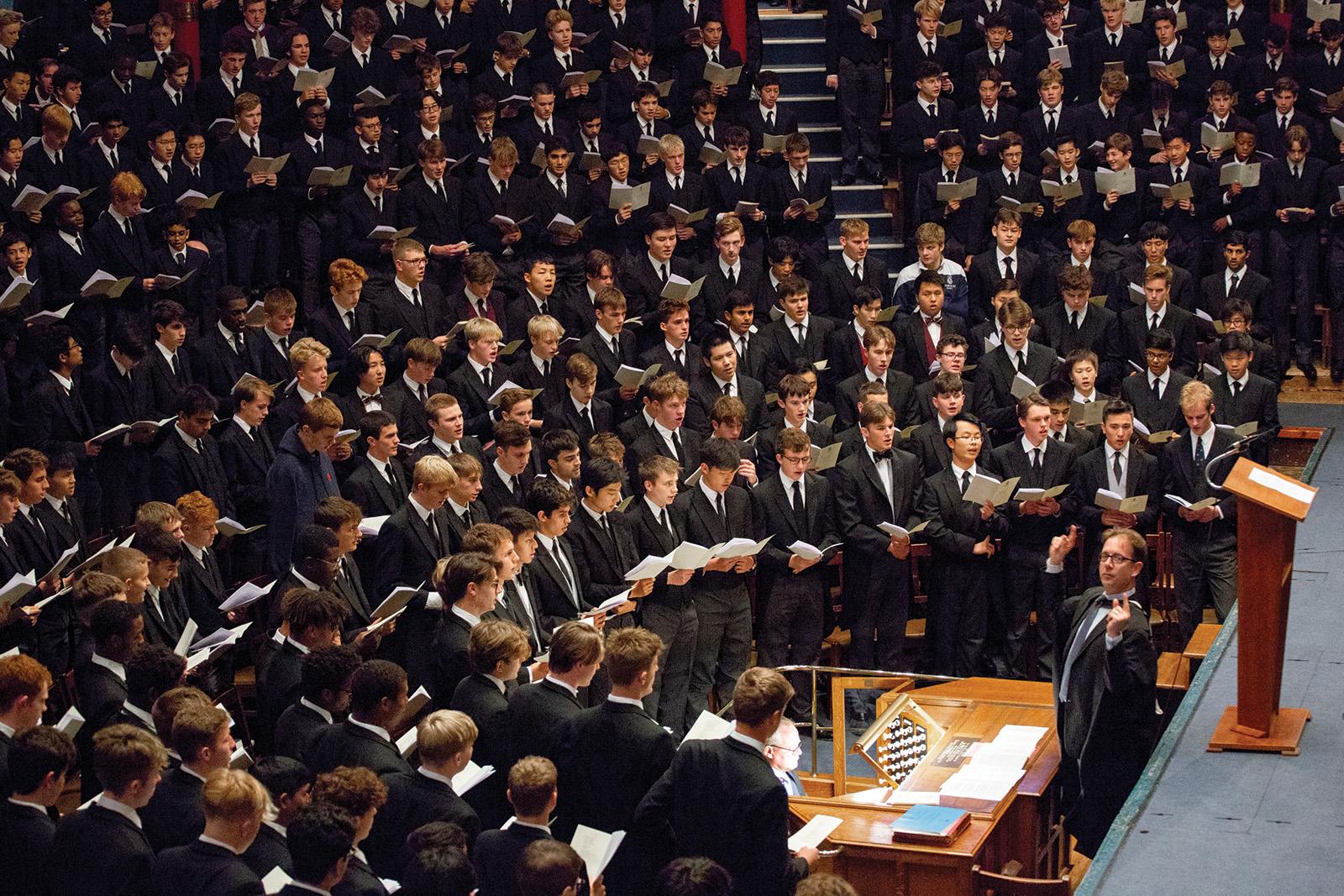 Songs in Speech Room March 2020.    © Harrow School